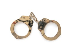 Handcuff isolated on white background
