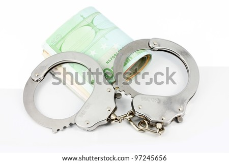 Handcuffs and Euro money
