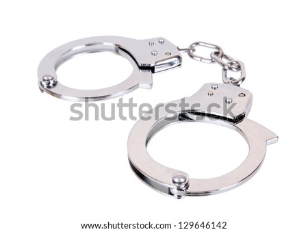 handcuffs isolated in white background