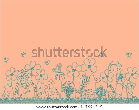 Handdraw floral background.