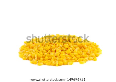 Handful canned corns.