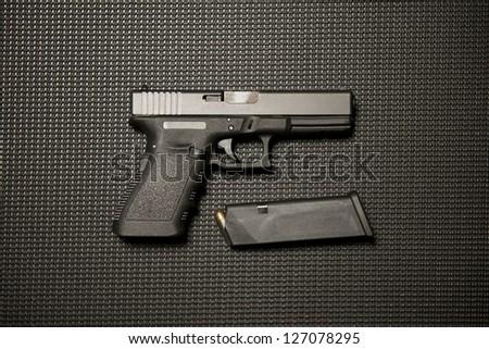 Handgun and Magazine
