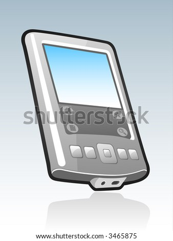 Handheld mobile device illustration