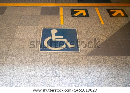 handicap disability wheelchair sign or symbol #1461019829