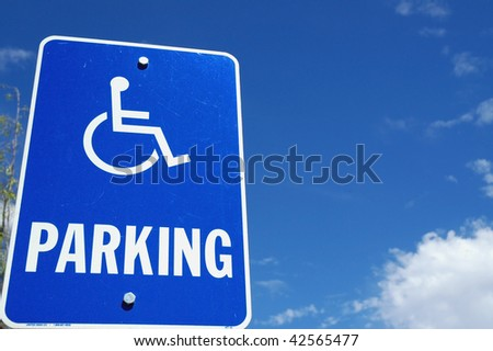 handicap parking sign room for your text