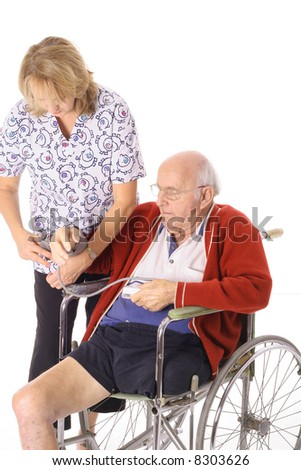 handicap patient and nurse