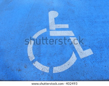 Handicap sign - stock photo