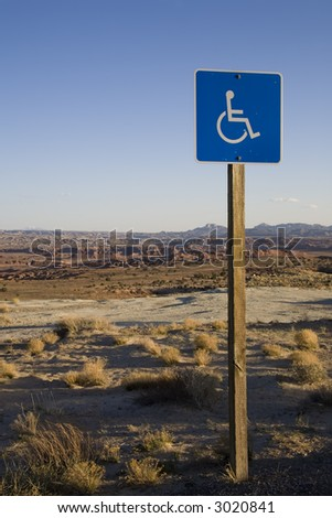Handicap sign in the desert southwest