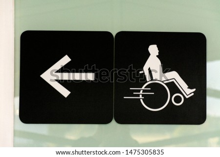 Handicap sign indicator at an airport or public facility #1475305835