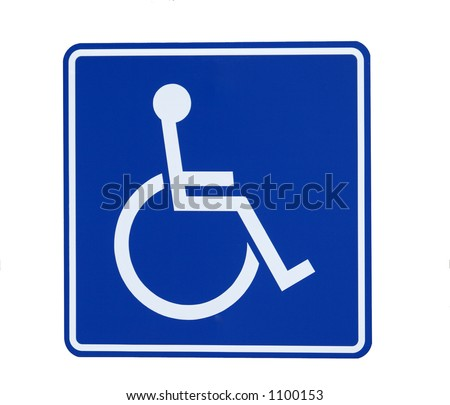 Handicap Sign lsolated