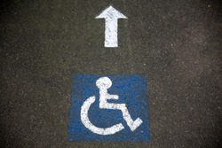 Handicapped instructions on road