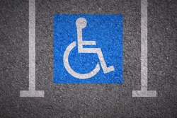 handicapped parking bay