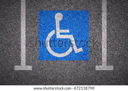handicapped parking bay