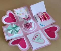 handicrafts from paper that can be used as gifts