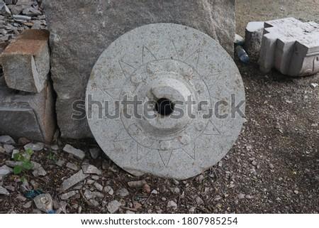 handicraftsmen on stone. sculpture on stones Stock photo ©