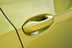 Handle on the passenger car door