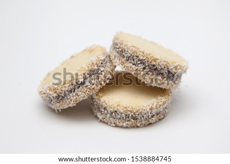handmade alfajor with caramel and coconut #1538884745