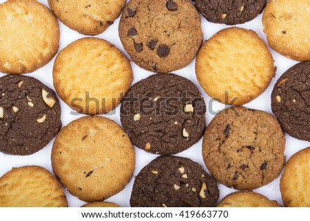 handmade assorted cookies , assorted cookies in white, assorted cookies in bowl #419663770