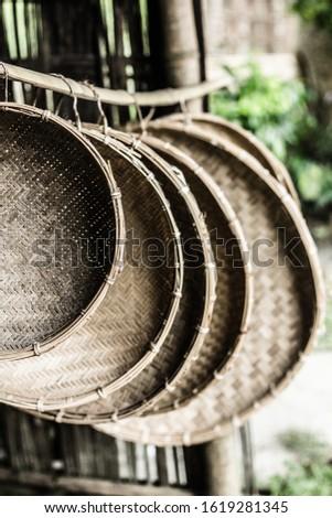 Handmade bamboo trays by artisans of Majuli, Assam