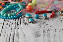 Handmade Bead making accessories, close up view