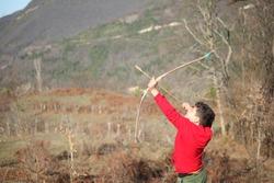 Handmade Bow Arrow Traditional Archer Child