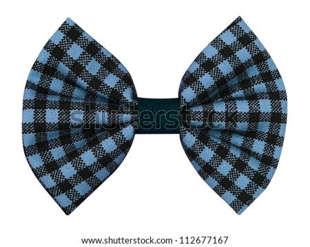 handmade bow tie isolated on white background - stock photo