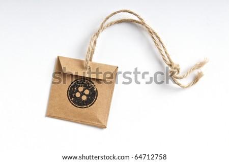 Handmade button tag