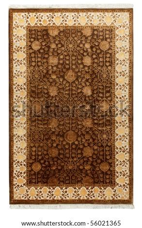 Handmade Carpet on a white background #56021365