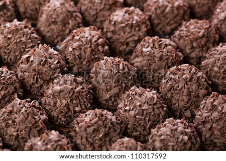 handmade chocolates ball bar selection