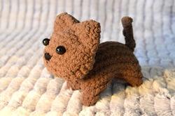 Handmade Cute brown Cat Plush
