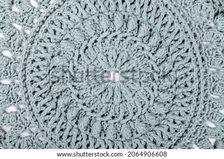 Handmade Decorative Green Crochet Round Cotton Cushion or Pillow