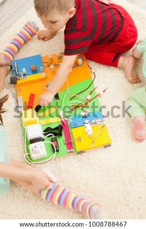 Handmade DIY busy board - sensory children's toy #1008788467