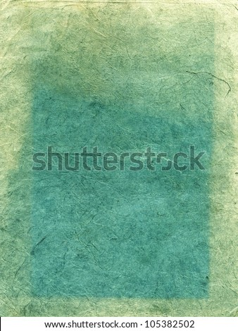 Handmade green rice paper texture