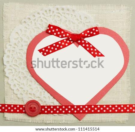 handmade greeting card closeup