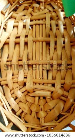 Handmade handmade basket typical of El Salvador. #1056014636