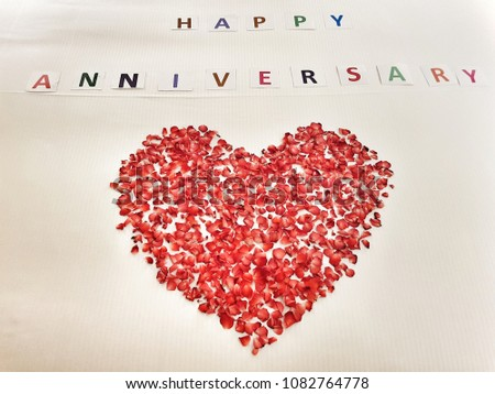 Free photos happy anniversary card a white card with text happy