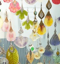 handmade jewelry, epoxy resin. earrings