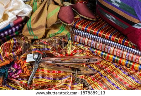 Handmade Kutnu Fabric Gaziantep Turkey Stok fotoğraf ©