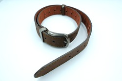 Handmade Men Casual Jean Leather Belt are used to secure or hold up clothing, like trousers or other articles of clothing, in a manner similar to suspenders and garters