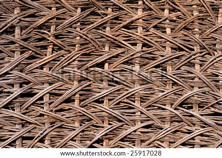 Handmade old wood wall