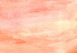 Handmade painting. Pink, earth tone, brown watercolor background. Brush lines matte texture abstract painted on paper. Backdrop, flat lay, overlay concept. Copy space for your text or image. Original.