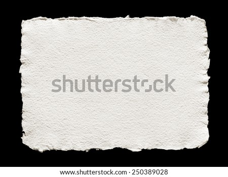 handmade paper on black isolated #250389028