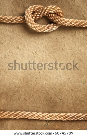 Handmade paper with rope border