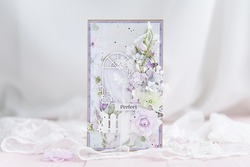 Handmade scrapbooking greeting card province and romantic style