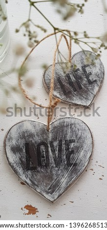 handmade shabby chic hearts decor