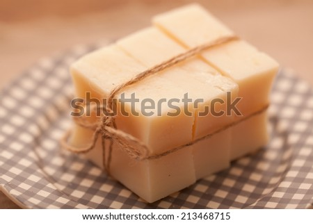 Handmade soap, making use of natural raw materials