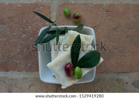 handmade soap with olive oil