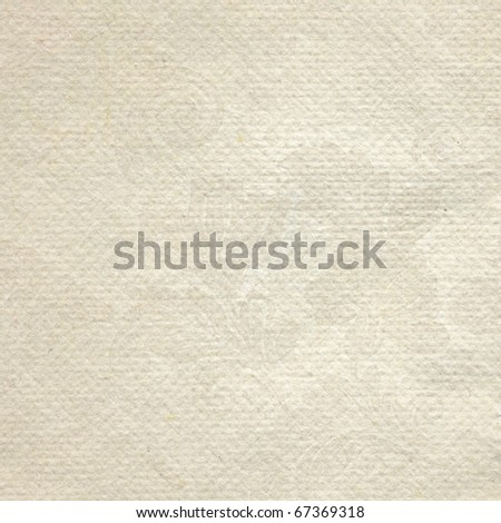 Handmade textured paper  with roses print