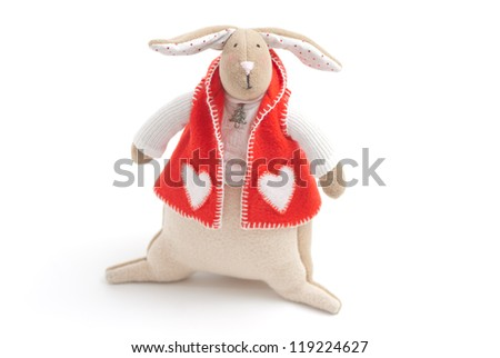 handmade toy cute litlle New Year rabbit