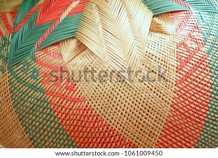handmade wicker basket  bamboo...